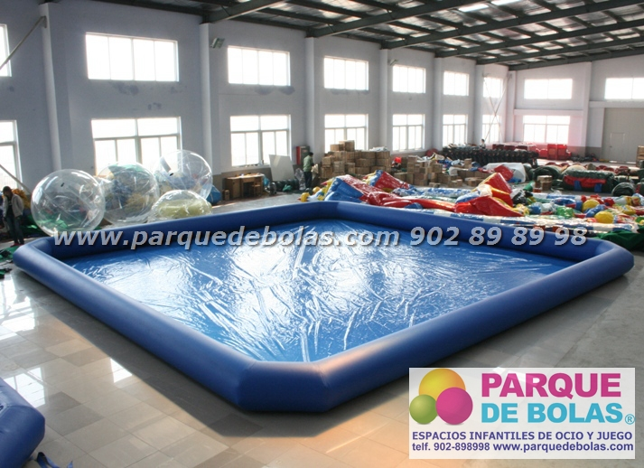 Piscina hinchable rectangular parque acuatico 10x8x0 65 m for Piscina hinchable rectangular
