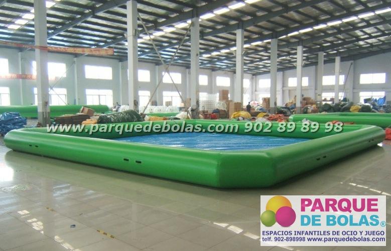 Piscina hinchable rectangular parque acuatico 15x10x0 65 m for Piscina hinchable rectangular