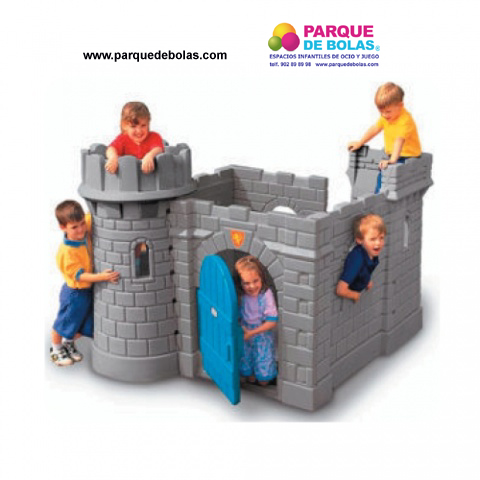 Casa de juguete el castillo toboganes parques for Vallas infantiles plastico