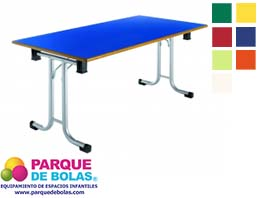 Mesa plegable infantil medidas 120x60x60 cm mobiliario for Mesa plegable medidas