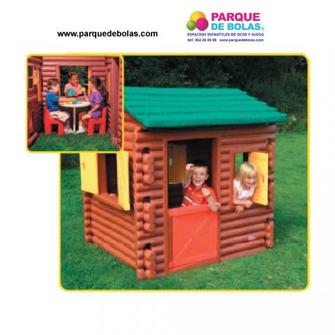 Casa de juguete para ni os troncos pvc toboganes for Casa de plastico para jardin