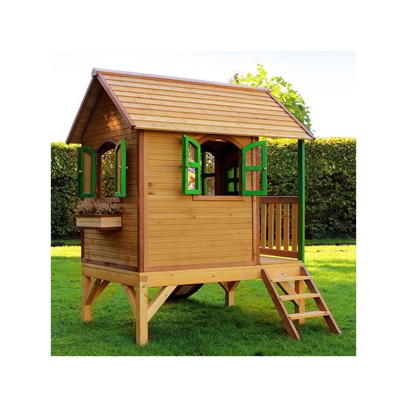 Casita de madera momo casas de madera para ni os for Casas de madera infantiles para exterior