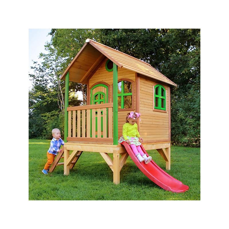 Casita de madera momo casas de madera para ni os for Casa madera ninos
