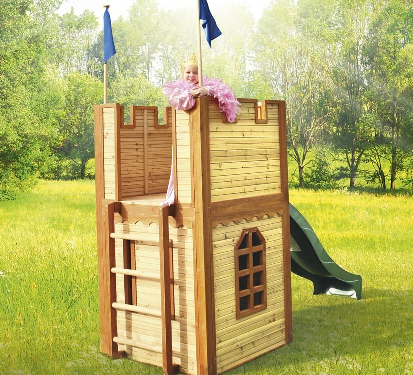 Castillo imagin casas de madera para ni os parque de bolas - Casas madera ninos jardin ...