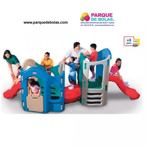 Zona de juego islas toboganes parques infantiles for Vallas infantiles plastico