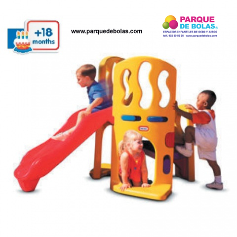 Parque infantil mini toboganes parques infantiles for Vallas infantiles plastico
