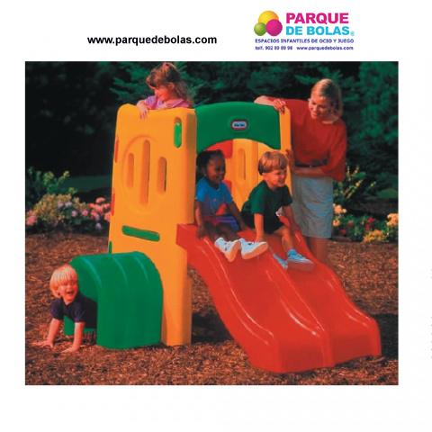 Parque infantil tobogan doble toboganes parques for Vallas infantiles plastico