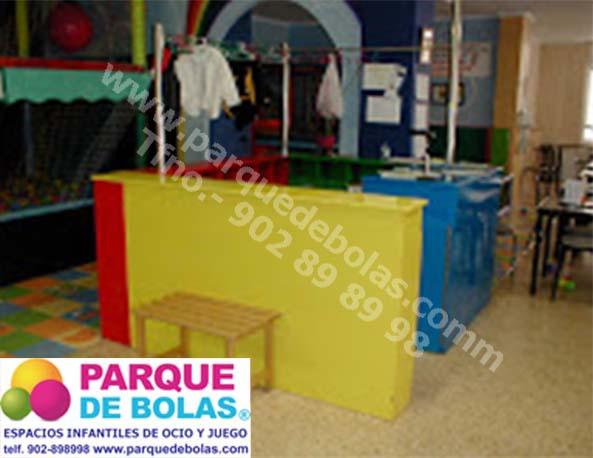 Mueble de recepci n para parques de bolas medidas - Mobiliario zapateria infantil ...