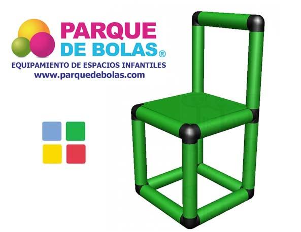 Silla infantil para parques mobiliario parques de bolas for Sillas para parques
