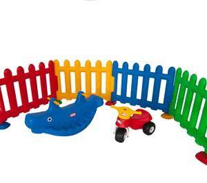 Valla plastica multicolor 4 unidades vallas para for Valla infantil carrefour