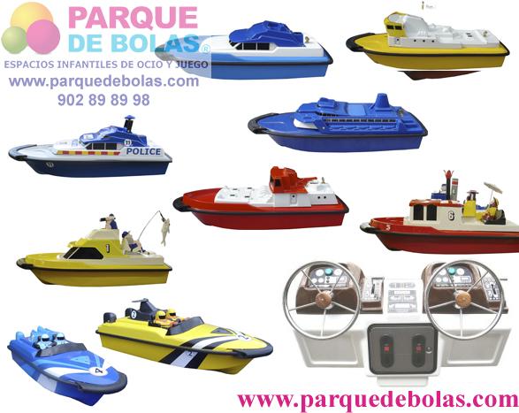 Marina barcos teledirigidos con moneda 80 cm (4 unidades)