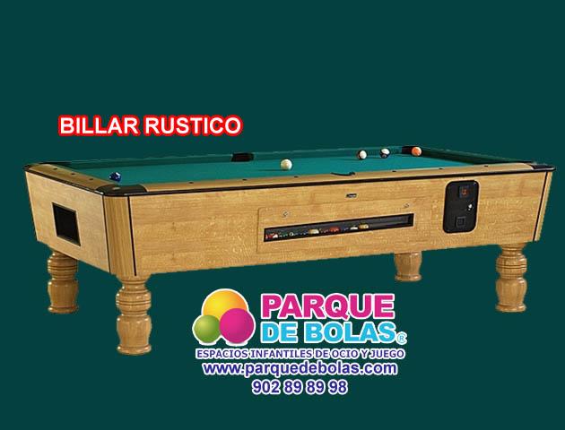 Mesa De Billar Rustica 213 Cm Juego Billar Juego Ping Pong Juego