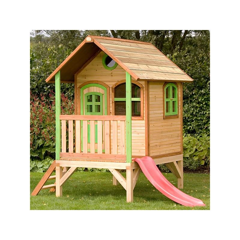 Casita de madera MOMO - Casas de madera para niños - Parque De Bolas