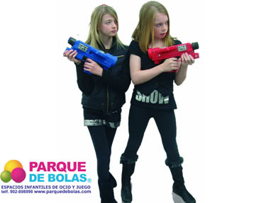 Pistolas marcadoras interactivas para niños (6 unid)
