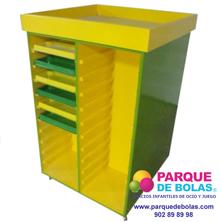 Mueble para 44 bandejas plasticas
