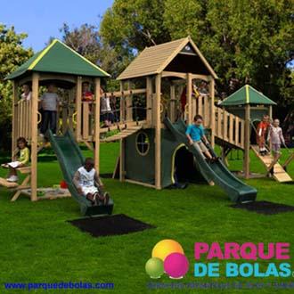 Parques infantiles y mixtos en madera parque de bolas - Parque infantil de madera ...