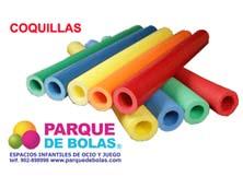 Coquilla para parque de bolas PLASTIFICADA (pack 5 tubos coquillas)