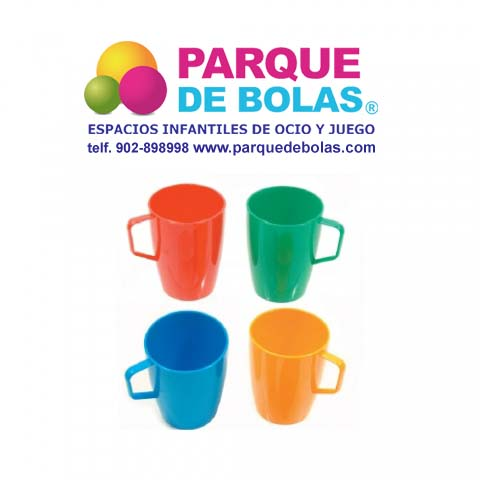 Vasos Plasticos De Colores Con Asa Para Fiestas 28 Cl Vajilla